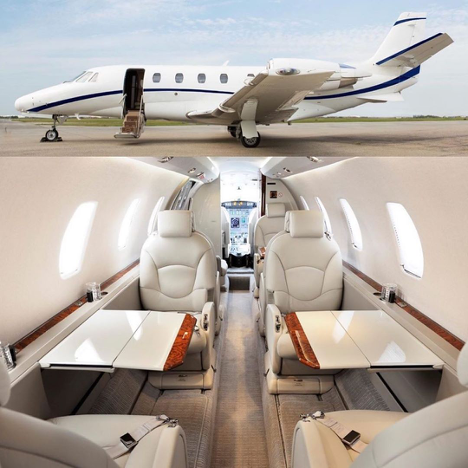 When choosing your private jet, be sure the interior accommodations fit your needs.