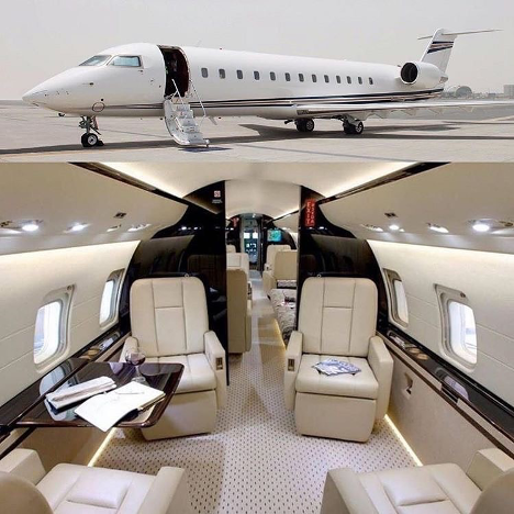 Heavy jets, often the preferred method of transportation for the wealthy, offer luxurious interiors.